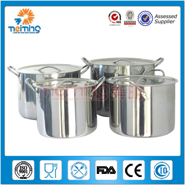 India 555 Stainless Steel Stock Pot,Cookware Stock Pot