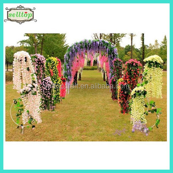 High Quality Wisteria Flowers Wedding Stage Decoration Buy High