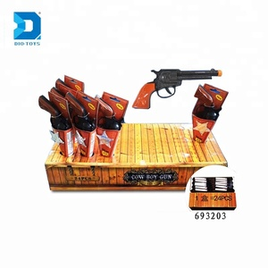 safety design plastic play set toy cowboy gun for kids