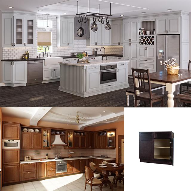 Venta al por mayor madera haya mueble de cocina-Compre online los ...