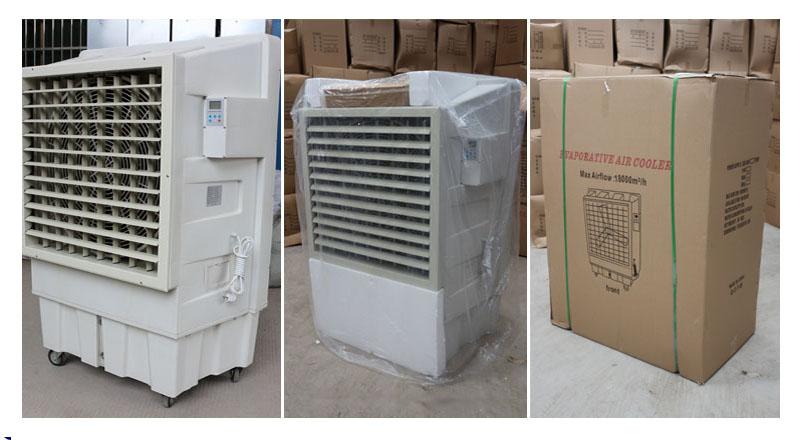 Grelhador de ar evaporativo de fluxo de ar lanchi 18000 (m3/h), condicionadores de ar portáteis baratos, condicionador de ar elétrico
