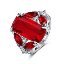 AC018015 AngryCat Vintage Natuurlijke Eenvoudige Dainty CZ Ruby Engagement <span class=keywords><strong>Euro</strong></span> Amerikaanse Fashion Horse Eye Ring Vrouw