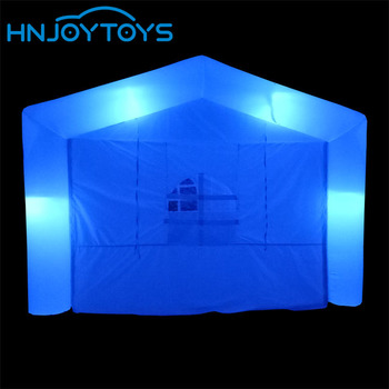 Low price RGB LED light outdoor party wedding advertising inflatable tent portable booth