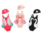 INS1403 new model spring and summer cute flamingo printed baby girls swimwear
