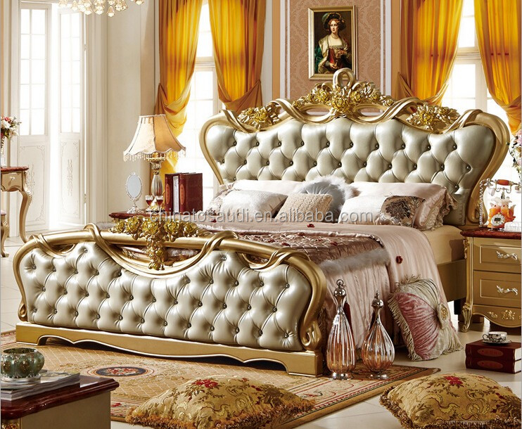 Royal Furniture Classic Bed Set Home Furniture Italian Antique