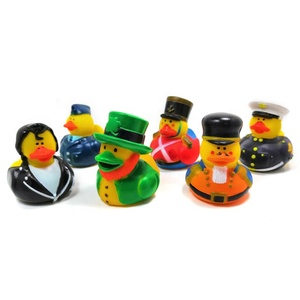 Wholesale Custom Bath Toy Police Floating Bath Rubber Vinyl Duck