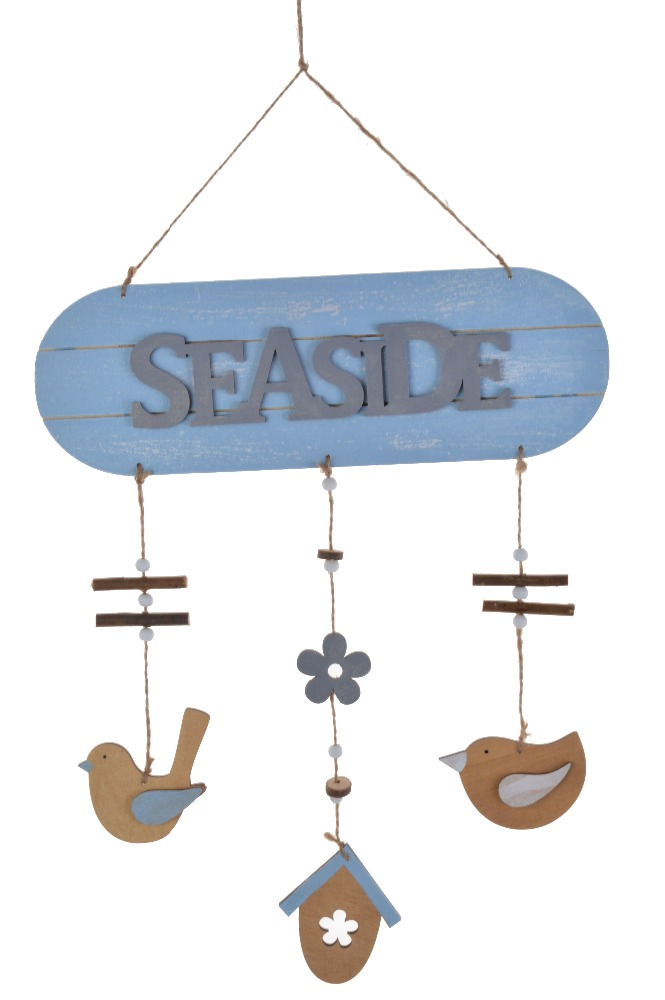 Wholesale Vintage Nautical Door Wall Hanging Art Wood Sign Blanks Plaque SEASIDE BEACH Letters Anchor Decor Shabby Chic