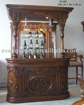 Solid wood classical hand carved home glass bar cabinet & Solid Wood Classical Hand Carved Home Glass Bar Cabinet - Buy ...