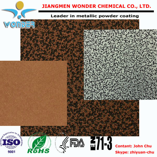 Texture Antique Copper Gold Epoxy Polyester Powder Coating