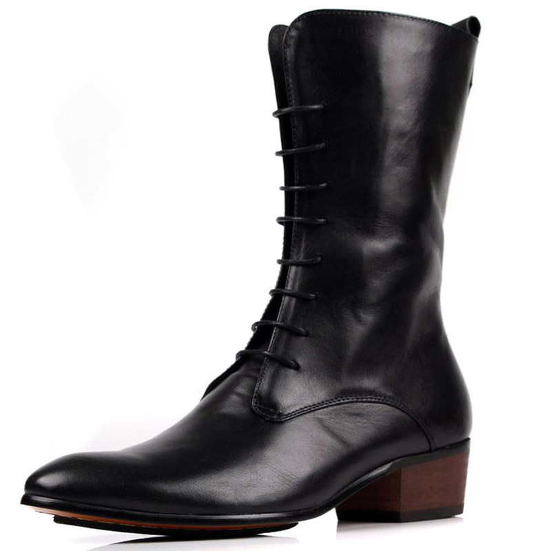 fashion-2014-european-Slim-mens-boots-black-mens-winter