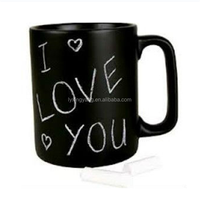 2017 hot selling Customizable Creative Personality Leave Message Candy Color Mouth Drinkware Type Ceramic Chalk Mug