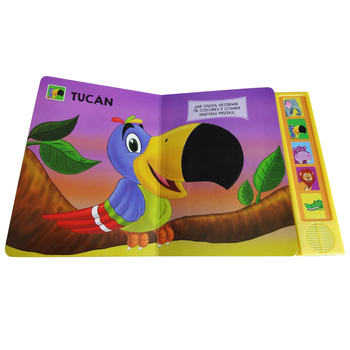 Best Seller Cartoon Printed Feel&Touch Board Book with Sound Module Fancy and Welcome Among Babies