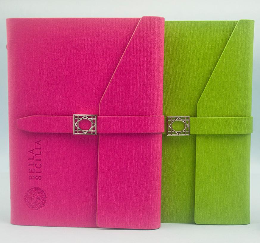 customer a4 executive clasp leather paper file folder notebook