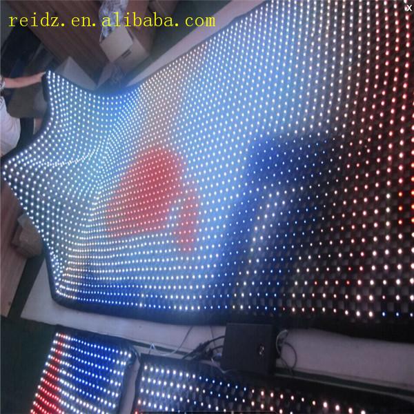 Programmable Led Christmas Lights Transparent /mesh Video Led Wall ...