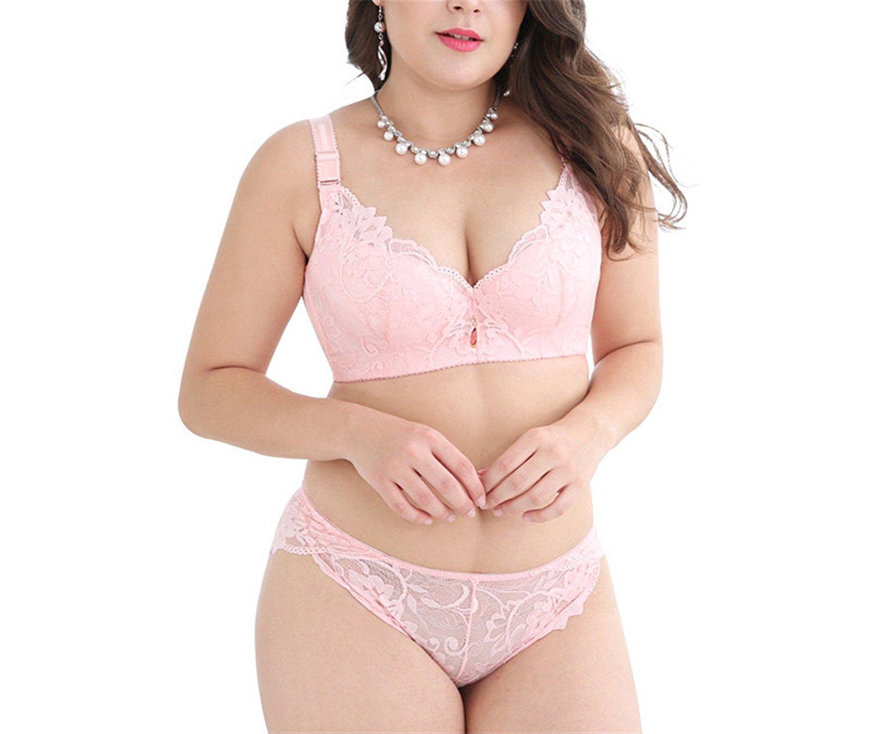bd1a6f0d58b Get Quotations · Caseminsto Push Up Lace Bra Set For Women Plus Size Bra  And Panties Set Sexy Lingerie