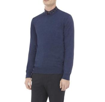 Men's Indigo Merino Wool Sweater
