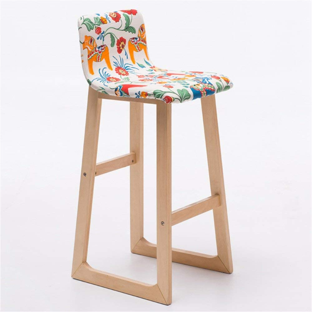 Bar Furniture Backrest Solid Wood Bar Chair Bar Chair Bar Stool Bar Stool Simple Household High Chair Front Desk Chair. Bar Chairs