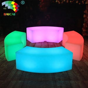 New style R.G.B 16 colors changing led light chair / led glowing chair / light cube seat