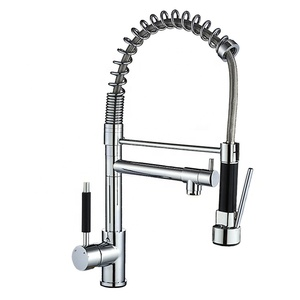 Two ways pull out brass spring kitchen faucet for sink PD trade assurance pull down taps