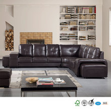 Guest room furniture lounge removable cover fashion style leather sofa