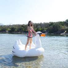 PVC inflatable swan float swan pool float inflatable floating swan on stock