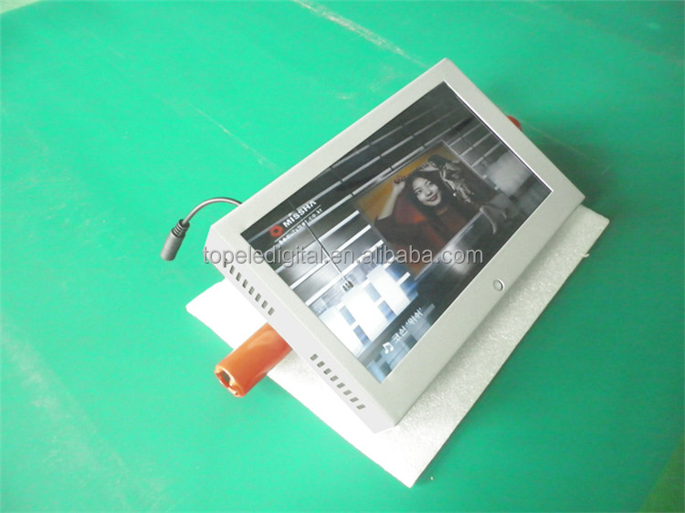 10.1'' motion sensor ads display with many functions , high quality lcd advertising play