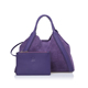Customized model genuin purple soft leather large tote bags for women with envelop purse
