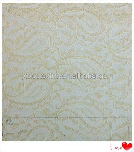 french silver jacquard lace fabric for wedding dress