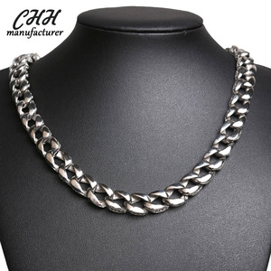 The 316L stainless steel men's jewelry is cast in bold chain necklace and bracelet 2 size for your choice.