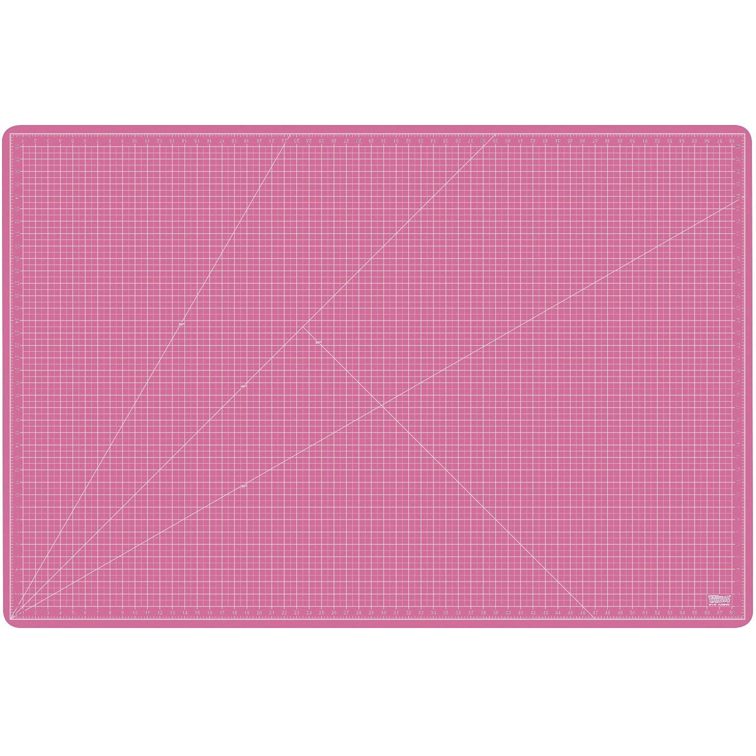 "US Art Supply 40"" x 60"" PINK/BLUE Professional Self Healing 5-Ply Double Sided Durable Non-Slip PVC Cutting Mat Great for Scrapbooking, Quilting, Sewing and all Arts & Crafts Projects (Choose Green/Black or Pink/Blue Below)"