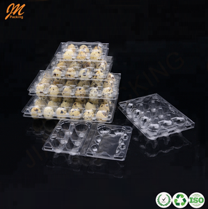 Full size plastic quail egg cartons, recycled PVC material quail egg packaging boxes china supplier