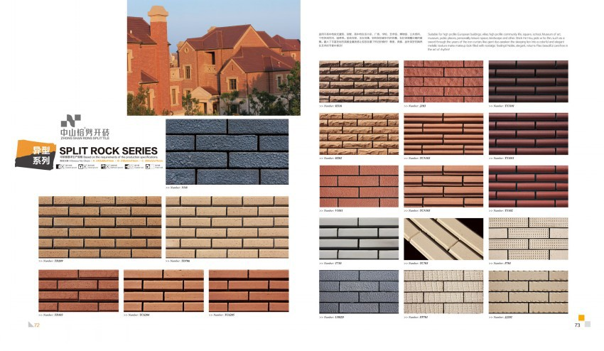 Stone Wall Facade Tile Clay Wall Split Tile Brick Facade