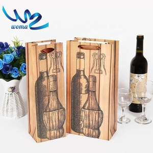 Add to CompareShare Custom Made Wine Bottle Paper Bag,Paper Win Bag,Wine Paper Bag
