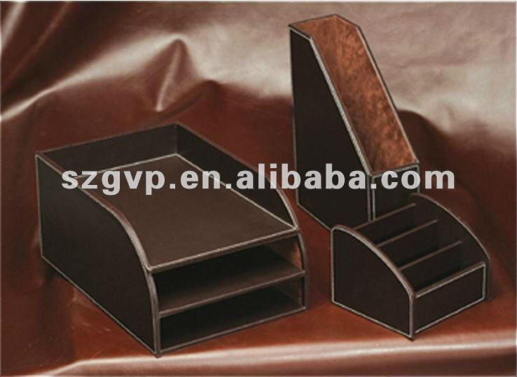 Hot!!! high-end design luxury leather office supplies