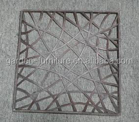 Handicrafts Home Metal Wall Decor Ornamental Square Modern