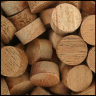 "WIDGETCO 1/2"" Mahogany Wood Plugs, Face Grain"
