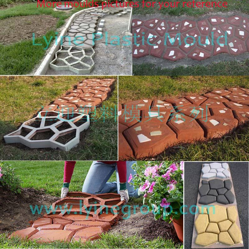 Garden Buildings Garden Supplies Garden Pavement Mold Diy Walk Manually Road Path Propylene Paving Cement Brick Stone Concrete Mould Garden Buildings Accessories