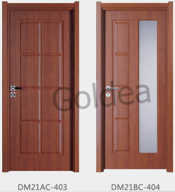 Goldea 2015 china latest design wooden single main door for Sliding main door