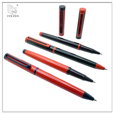 Cheap slim promotional ink thin metal pen free samples no minimum order