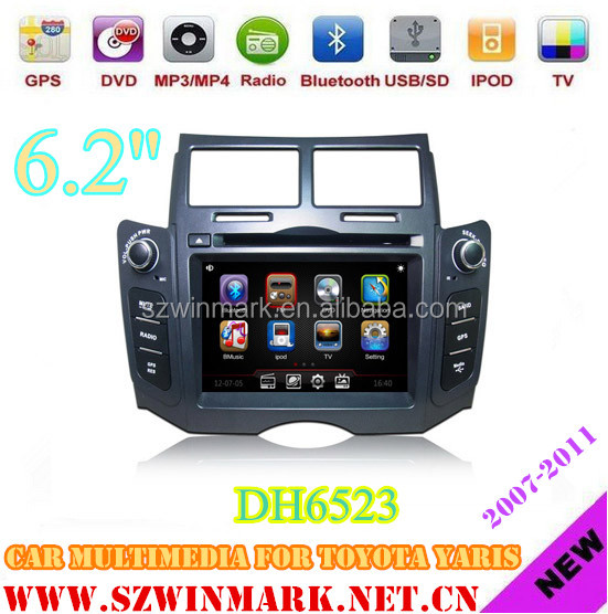 DH6523 Car DVD Player for Toyota Yaris(2007-2011) with GPS,3G,ipod,6CDC,Bluetooth,Phonebook etc