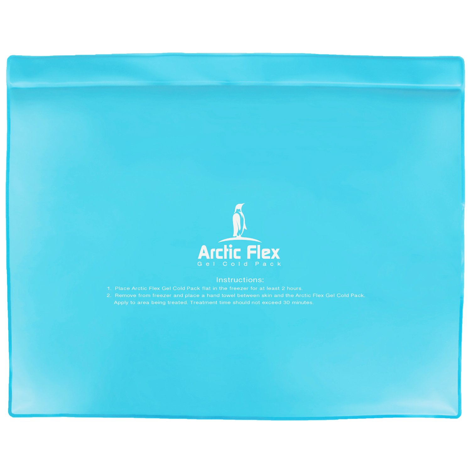 "Arctic Flex Gel Ice Pack - Cold Therapy Ice Bag - Reusable Medical Freezer Pad - Hot/Heated Compress Wrap for Knee, Shoulder, Back and Ankle - Flexible, Soft & Instant (11"" x 14"")"