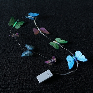 450mah USB Operated Colorful Changing Butterfly LED Night Light Lamp Home Room Party Desk Wall Decor