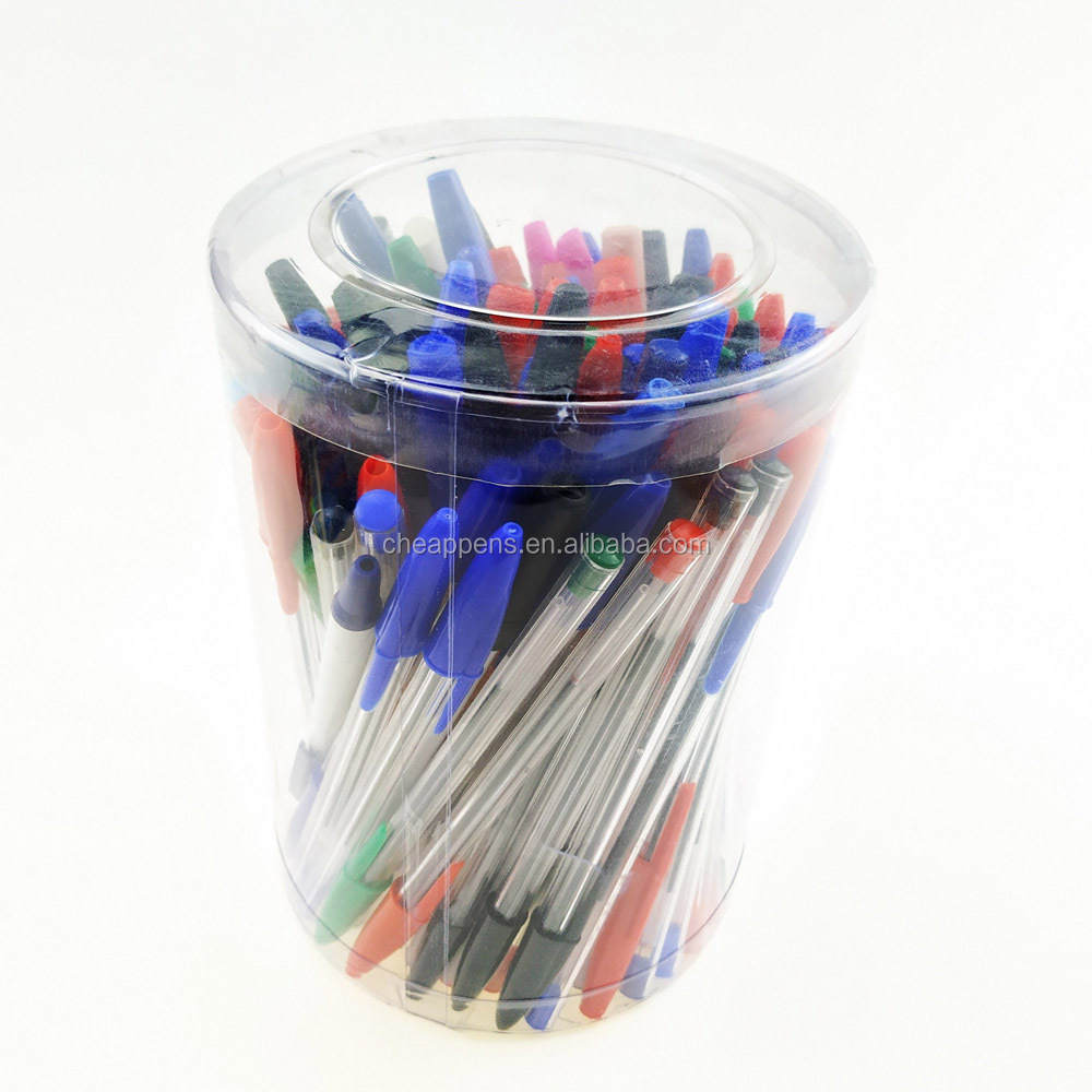 Transparent School Plastic Cheapest Ballpoint Pen in Bulk Supply