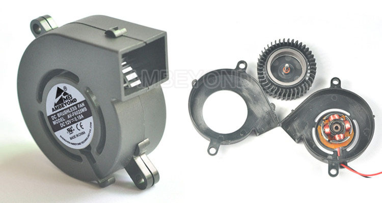 Small Electric Air Blower : V mm dc electric air blower fan low noise