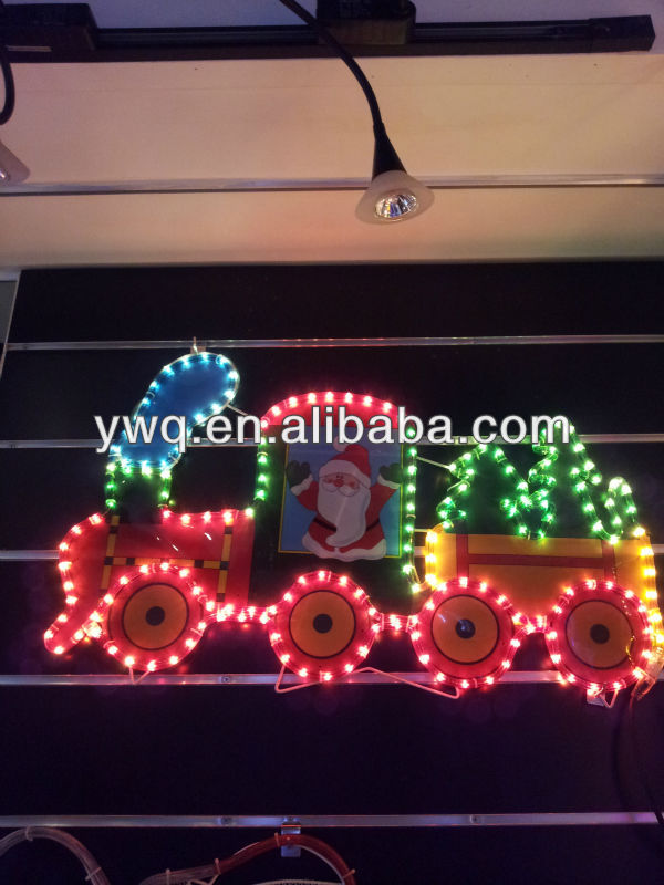 Led Christmas Train Rope Lighted