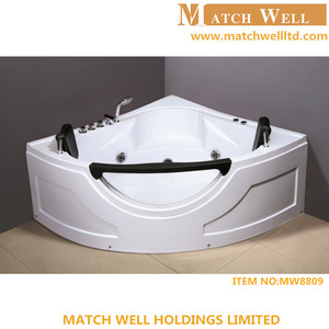 luxury two person free standing cheap used glass whirlpool bathtub