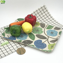 Bamboo fiber & melamine cafeteria trays with custom pattern