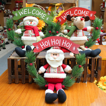 christmas wreath decorativewholesale santa and snowman christmas wreath decorations