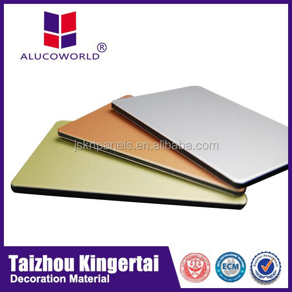Alucoworld 2015 Latest Design Plastic Commercial Kitchen Wall Cladding  Aluminum Composite Panel