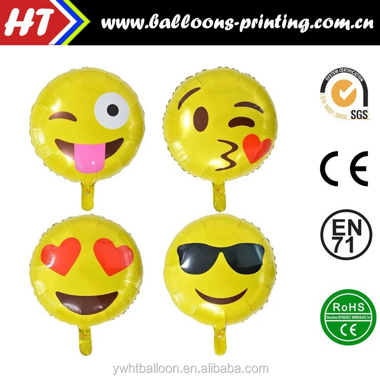 Emoji Smiley Faces Balloon Happy Birthday 18 Party Foil Helium
